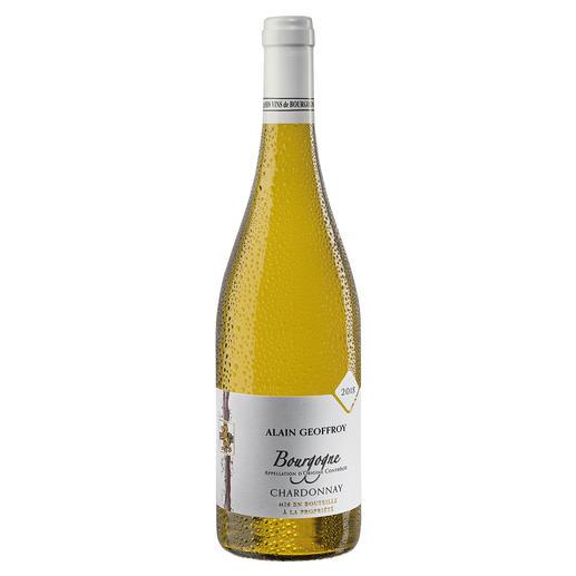 Bourgogne Chardonnay 2018, Domaine Alain Geoffroy, Burgund, Frankreich - Seltenheit: Ein Bourgogne Chardonnay, der durch sein Preis-Genuss-Verhältnis überzeugt.
