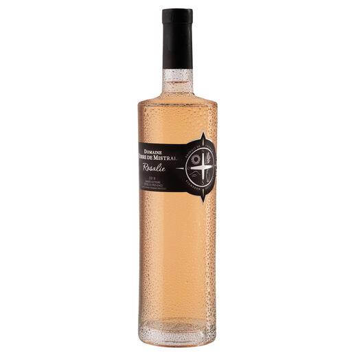 Rosé Mistral 2018, Domaine Terre de Mistral, Provence, Frankreich Der Preis-Genuss-Sieger. Unter 91 (!) Provence Rosés. (Decanter, August2019)
