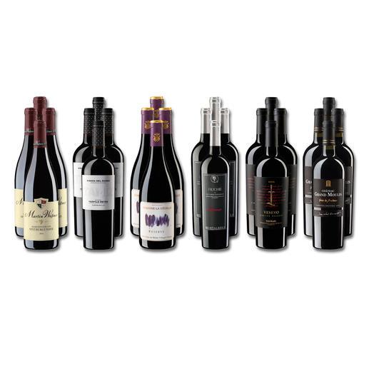 Weinsammlung - Die kleine Rotwein-Sammlung für anspruchsvolle Genießer Frühjahr/Sommer 2020, 24 Flaschen Wenn Sie einen kleinen, gut gewählten Weinvorrat anlegen möchten, ist dies jetzt besonders leicht.
