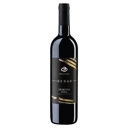 """Primitivo Zenas 2018, Bollina srl, Apulien, Italien """"Einer der besten italienischen Rotweine aller Zeiten."""" (www.lucamaroni.com)"""