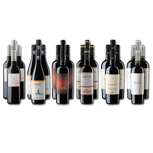 Weinsammlung - Die kleine Rotwein-Sammlung Sommer 2020, 24 Flaschen Wenn Sie einen kleinen, gut gewählten Weinvorrat anlegen möchten, ist dies jetzt besonders leicht.