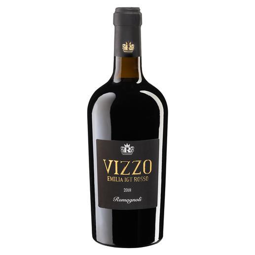 "Vizzo 2018, Romagnoli, Emilia Romagna, Italien ""Ein großartiger Wein. 98 Punkte."" (Luca Maroni, www.lucamaroni.com, 25.03.2019)"