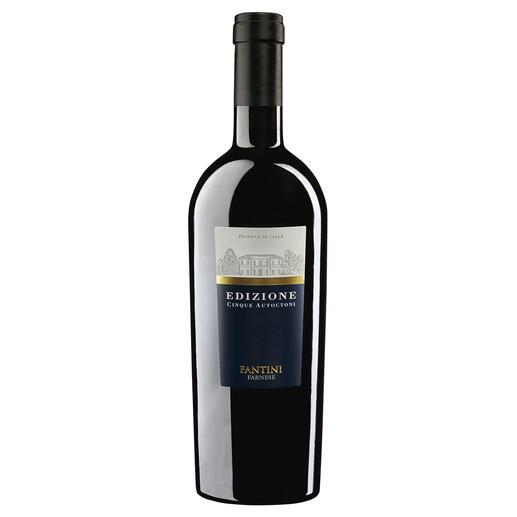 """Cinque Autoctoni 2018, Farnese, Abruzzen, Italien """"Bester Rotwein Italiens."""" (Luca Maroni über die Edition 17, Annuario dei Migliori Vini Italiani 2018)"""