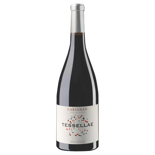 """Tessellae Carignan 2018, Domaine Lafage, Roussillon, Frankreich """"Ein sensationeller Wein.""""  (Robert Parker, Wine Advocate 230, 04/2017 über den Jahrgang 2015)"""