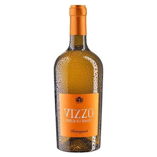 "Vizzo Bianco 2019, Cantine Romagnoli, Emilia Romagna IGT, Italien ""Großartiger Wein… ."" Zweimal in Folge 98 Punkte. (Luca Maroni, www.lucamaroni.com)"