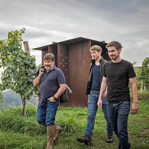 Willi Sattler mit seinen Söhnen Alexander Sattler und Andreas Sattler