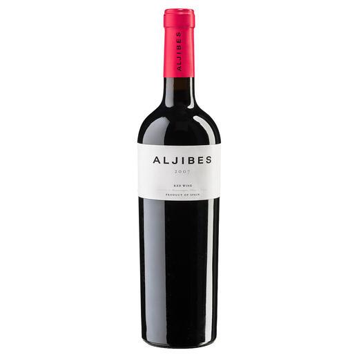 """Aljibes 2007, Bodega Los Aljibes, La Mancha, Spanien """"Außergewöhnlicher Weinwert. 92 Punkte."""" (Robert Parker, robertparker.com, TheWineAdvocate195, 02.05.2011)"""