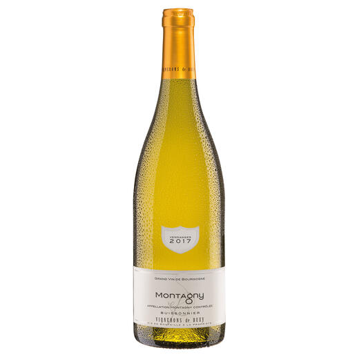 Bourgogne Montagny 2017, Vignerons de Buxy, Burgund, Frankreich - Der Weißwein des Jahres aus Frankreich. (Weinwirtschaft 01/2018)