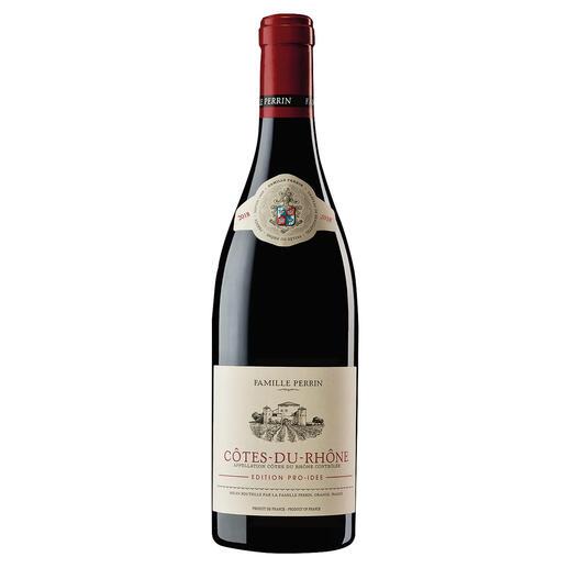 Côtes du Rhône EDITION PRO-IDEE, Perrin, Rhône, Frankreich Er macht Weine mit 100 Parker-Punkten. Und diesen Côtes du Rhône – exklusiv für die EDITION PRO-IDEE.