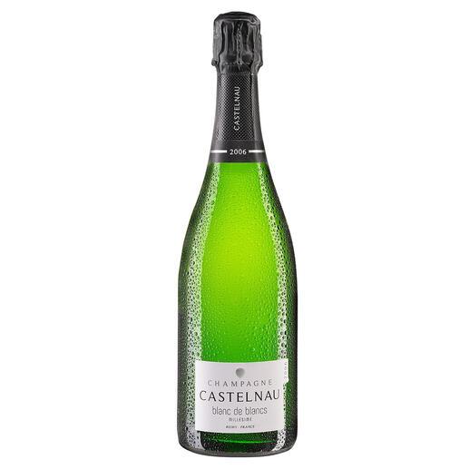 Blanc de Blancs 2006, Castelnau, Champagne AOC, Frankreich Der Geheimtipp aus der Champagne. 12 (!) Jahre Hefelager. Mehr als bei berühmten Prestige-Cuvées.