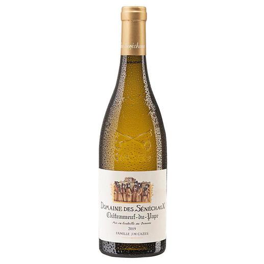 Châteauneuf-du-Pape Blanc 2019, Domaine des Sénéchaux, Châteauneuf-du-Pape AOC, Frankreich Seltenheit: Ein großer, weißer Châteauneuf-du-Pape.