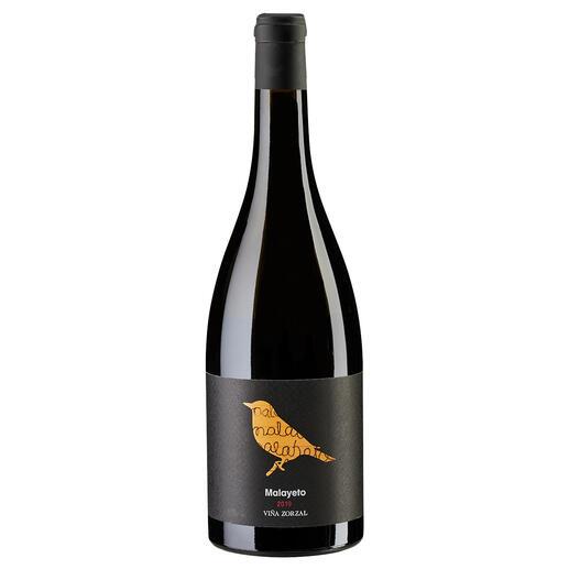 """Malayeto 2019, Viña Zorzal, Navarra DOP, Spanien """"Große Finesse. Unglaublich elegant. Wirklich beeindruckend. 94 Punkte."""" (Robert Parker, The Wine Advocate 248, 30.04.2020)."""
