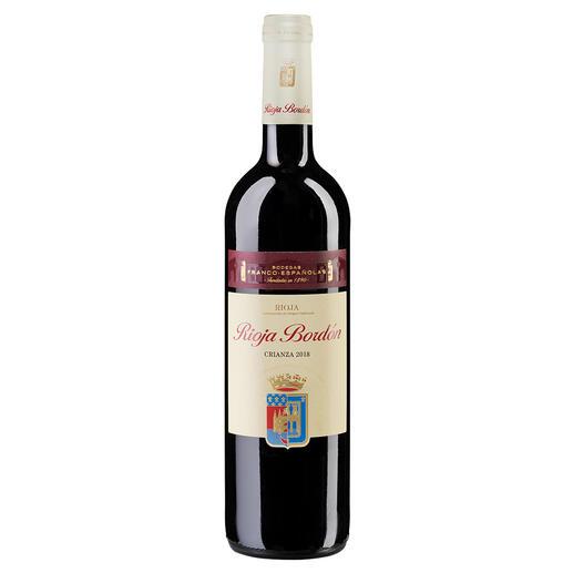 Bordón Crianza 2018, Bodegas Franco-Españolas, Rioja DOCa, Spanien Er macht Weine mit 100-Parker-Punkten (Robert Parker, The Wine Advocate 169, 28.02.2007). Doch die besondere Empfehlung ist dieser Rioja.