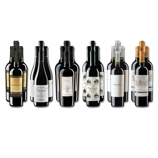 Weinsammlung - Die kleine Rotwein-Sammlung Frühjahr 2022, 24 Flaschen Wenn Sie einen kleinen, gut gewählten Weinvorrat anlegen möchten, ist dies jetzt besonders leicht.