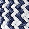 Weiß/Jeansblau