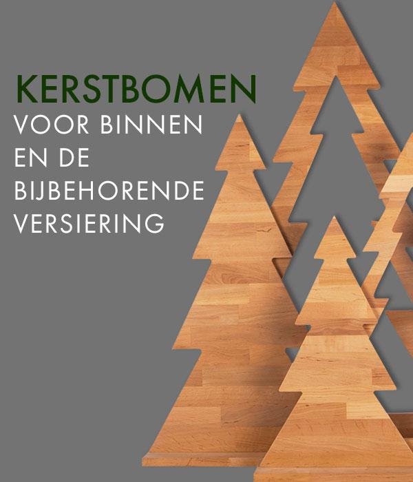 Kerstbomen voor binnen en de bijbehorende versiering